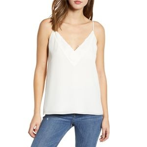 Socialite Lace Trim Camisole Top White Size Small